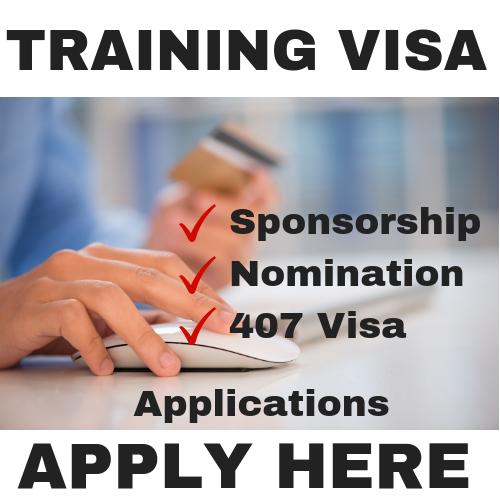 Training Visa 407 Application Modules