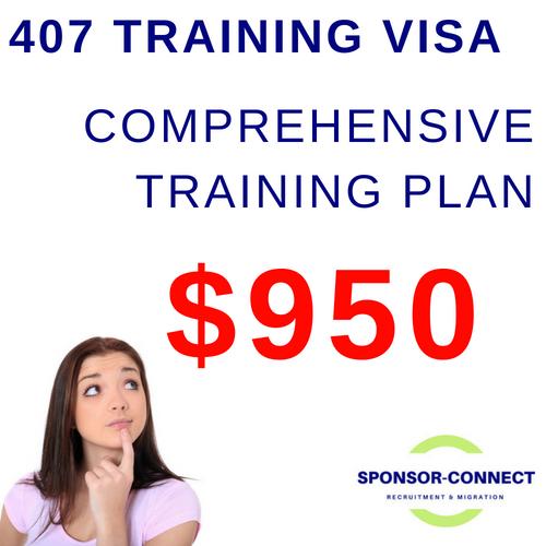 Training Plan Training Visa 407