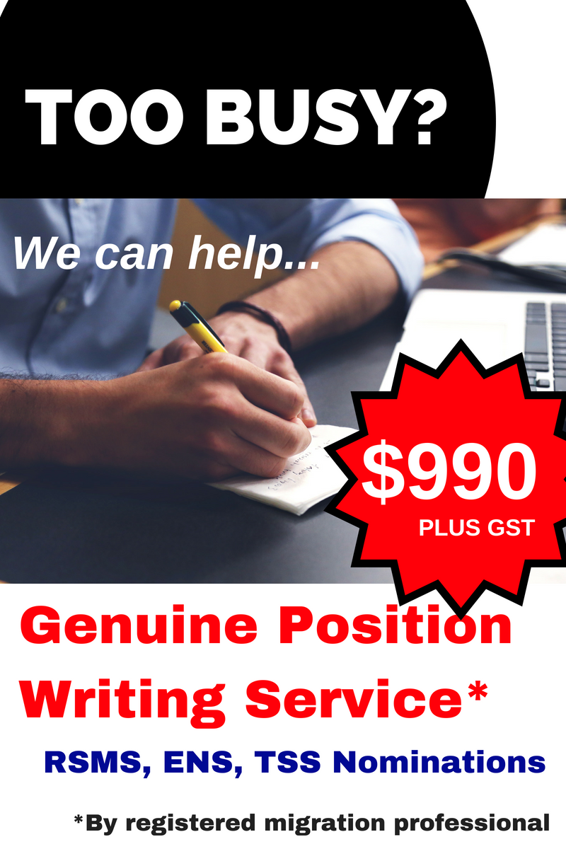 Genuine Position writing service